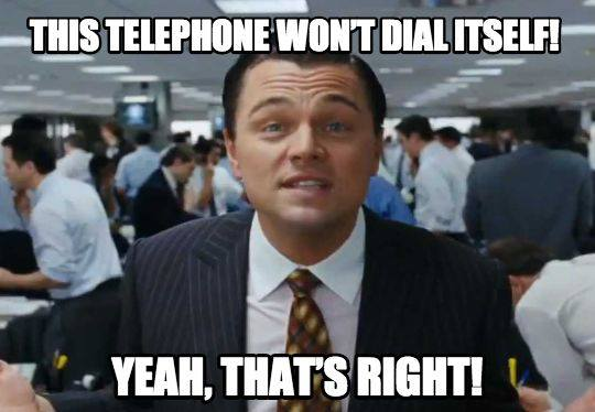 "Telephone sales by RFS Marketing - ""This phone won't dial itself!"""