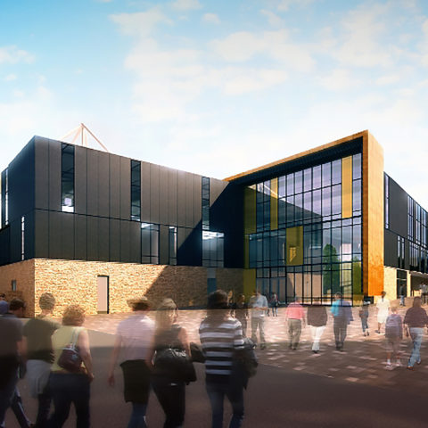 CGI image of the new stadium to be built in Truro