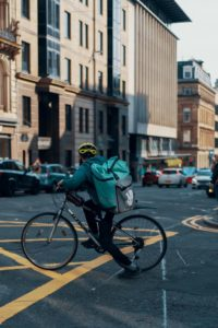 digital marketing during the Coronavirus - Deliveroo rider