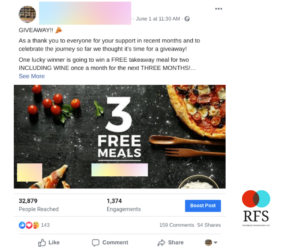 restaurant marketing viral giveaway example